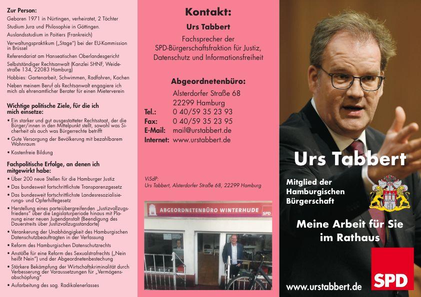 Folder Bürgerschaftswahl Hamburg 2020