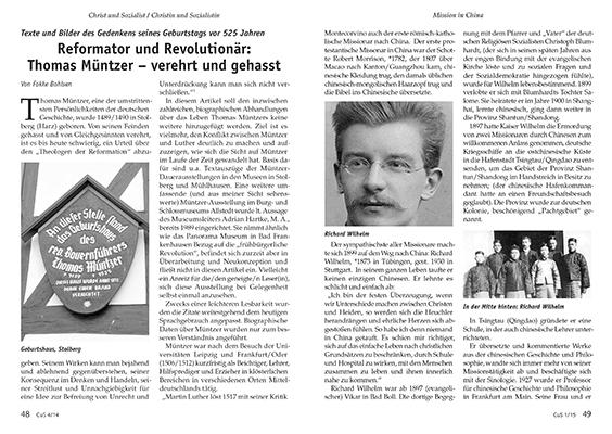 Vereinszeitschrift CuS 4/14